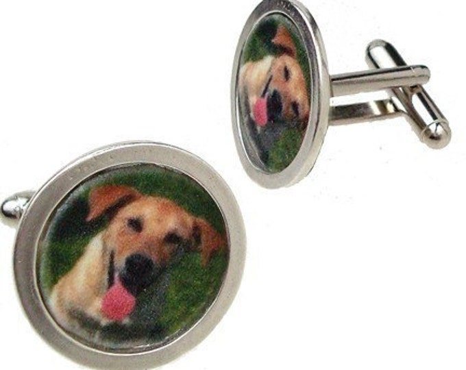 ON SALE custom image cufflinks with your own pet photo
