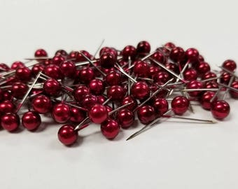 Corsage / Boutonniere Pins Red Pixie  3/4""