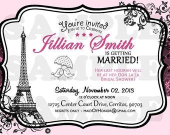 Paris Vintage Bridal Shower Invitation