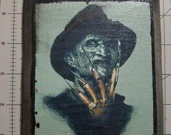Freddy Krueger  Nightmare On Elm Street Wood Plaque