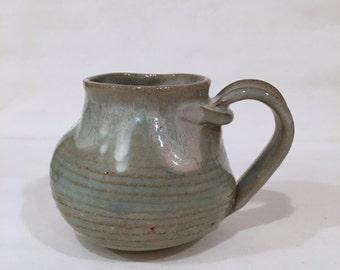 Large Twisted Handmade Mug, Pottery mug, Ceramic Coffee Mug 16 oz TSTBM8