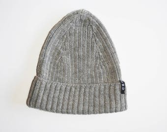 100% ALPACA WOOL HAT - Grey