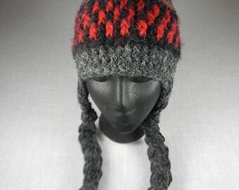 Ear Flap Hat, Peruvian Crash Helmet, Warm Winter Hat, Chullo Hat