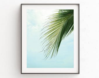 Art Prints, Wall Art, Poster, Tropical Print, Wall Decor, Gift for Sister, Palm Leaf Print, Tropical Leafs, Birthday Gift, Botanical Print