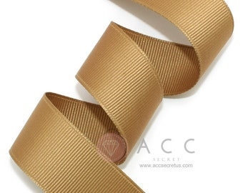 5Yards Light Brown Solid Grosgrain Ribbon - 5mm(2/8''), 10mm(3/8''), 15mm(5/8''), 25mm(1''), and 40mm(1 1/2'')