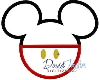 Mickey Head - Classic Mickey-3 sizes, 7 formats-Embroidery Machine Design - Applique-Instant Download - David Taylor Digitizing