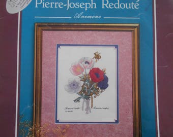 Pierre-Joseph Redoute Anemone, June Grigg, Pattern Leaflet #31, 1989