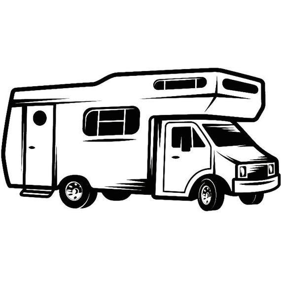 Recreational Vehicle: Motorhome 2 Camper Recreational Vehicle RV Camping Camp