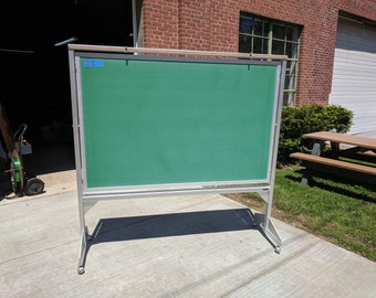Dual Sided Mobile Chalkboard Green  Blackboard