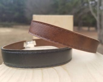 "Upcycled ""DAY&NIGHT"" Reversible Leather Choker"