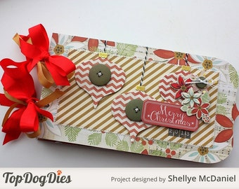 Elegant --MERRY CHRISTMAS-- Handmade Scrapbook Photo Album, Journal, Gift