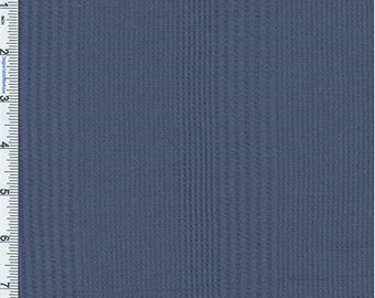 Dusted Blue Novelty Pattern Thermal Texture Knit, Fabric By The Yard