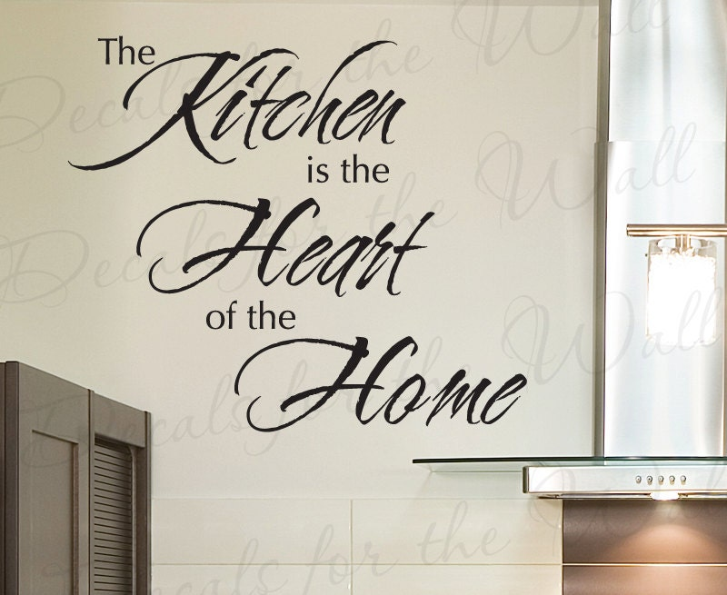 The Kitchen Heart Home Dining Room Mom Mother Vinyl Sticker