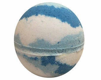 Dancing Waters Bath Bomb, Bath Fizzy, Handmade Spa Product, Epsom Salts, Hydrating Coconut Oil, Sensitive Skin, Great Gift for Her