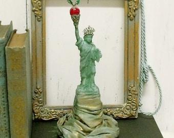 Statue of Liberty New York Apple aged verdigris