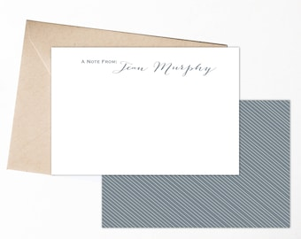 Personalized Stationery | Personalized Notecards | Mongram Notecards | Note Cards