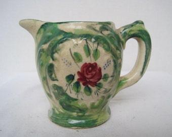 Vintage 1930's made in Japan Floral Cream Pitcher