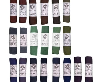Unison Artist Quality Soft Pastels - Dark 1 - 20