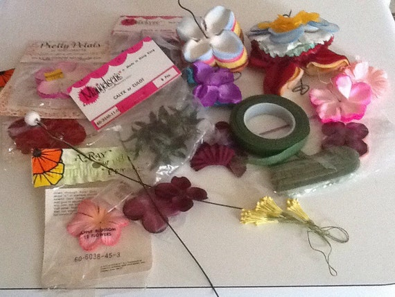Silk flower making supplies a bit of this and that weddings prom silk flower making supplies a bit of this and that weddings prom home coming petals stems leaves from lookeythere on etsy studio mightylinksfo