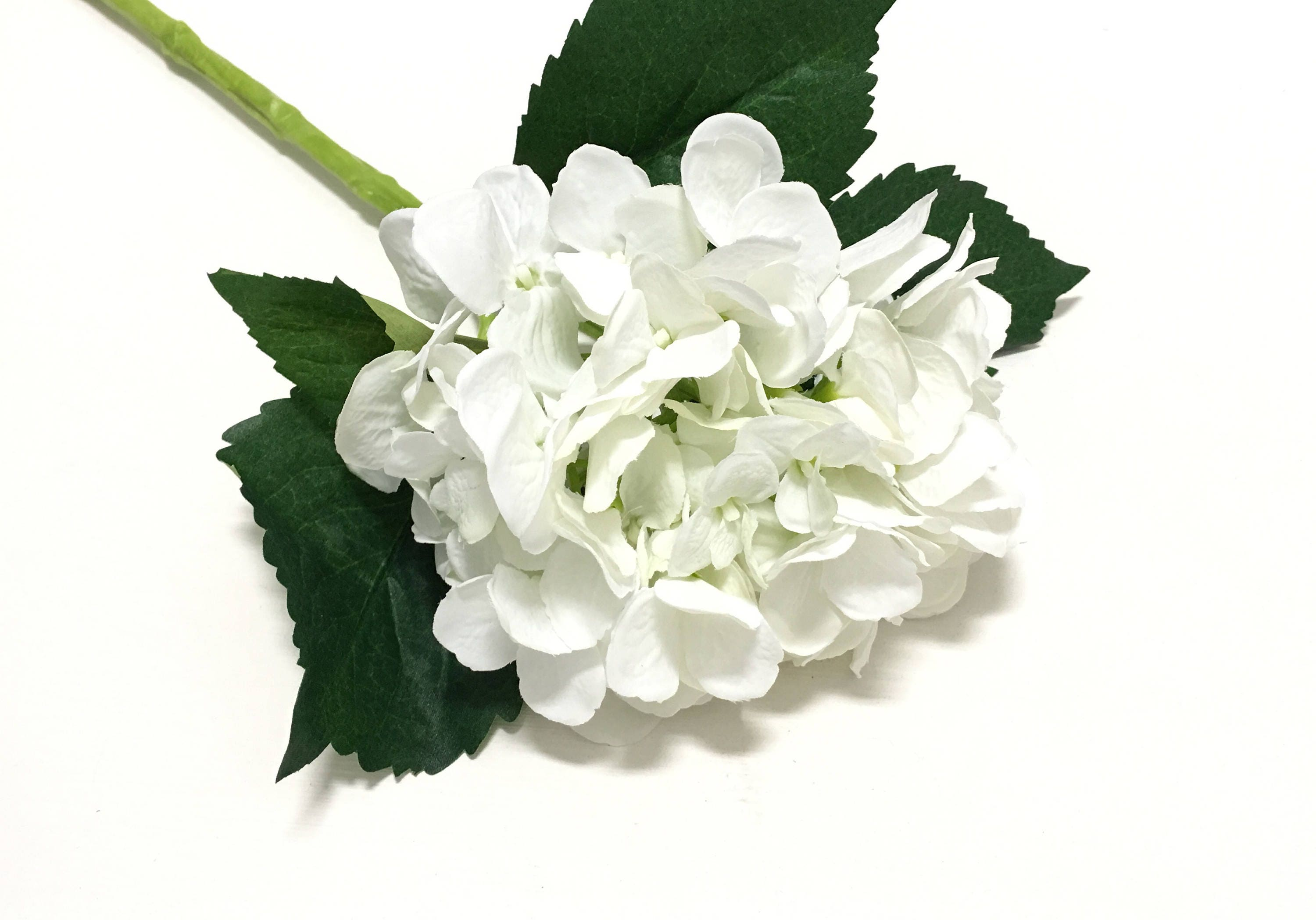 Jumbo Artificial WHITE Hydrangea Head on SUBMERGEABLE STEM ...