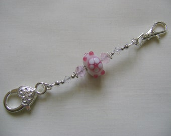 Candy Pink Flower Stitch Marker Holder