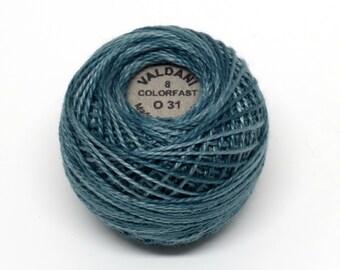 Valdani Pearl Cotton Thread Size 8 Variegated: #O31 Tealish Blue