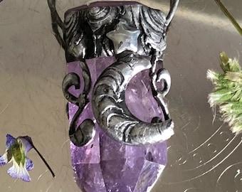 Purple Sky Necklace/ crystal jewelry
