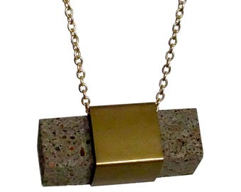 Square necklace concrete