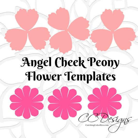 Angel cheek peony paper flower templates diy paper flower angel cheek peony paper flower templates diy paper flower kit svg cut files printable pdf templates mightylinksfo