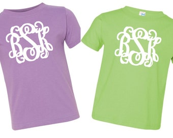 Monogrammed Short Sleeve Tees for Toddlers/Toddler Tees/Monogrammed Tees/Monogrammed Toddler Shirt/Personalized Gifts