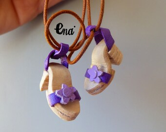 """New """"PATRICIA"""" Leather purple sandals for Pure Neemo. 100% handmade. Only one available"""