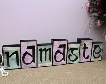 Namaste Sign, Wood Decor, Namaste Wood Sign, Sanskrit Namaste, Indian Home  Decor