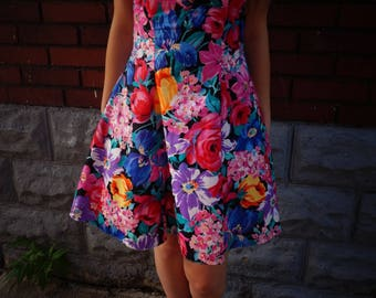 Vintage Floral Party Dress