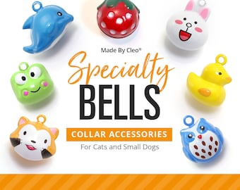 Cat Bell - SPECIALTY - Pet Collar Bells / Cat Collar Bell / Dog Bell / Cat Collar with Bell / Extra Loud Jingle Bell - (17 STYLES)