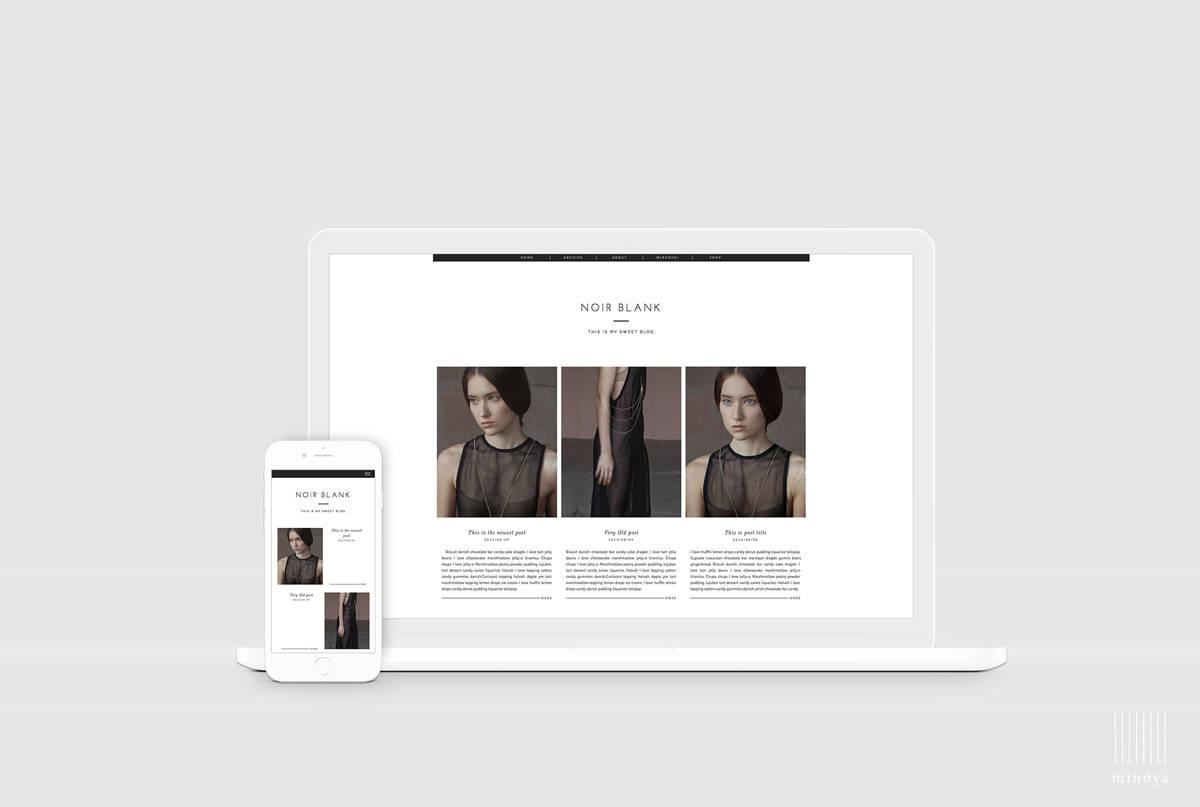 Lifestyle Blog Template Magazine Style Blogger Design