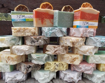 3 handmade soaps for 16.00/ Choose your scents