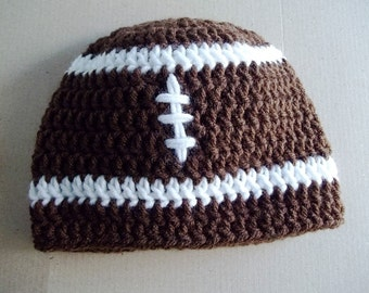 Baby Football Hat, Crochet Baby Beanie, Photo Prop, Shower Gift, You Pick The Size