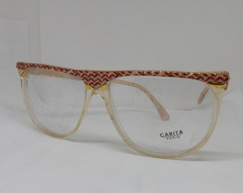 Charity PARIS Vintage frames framed eyeglasses or sunglasses made in ifrance crystal man woman gold Glasses frame Brille