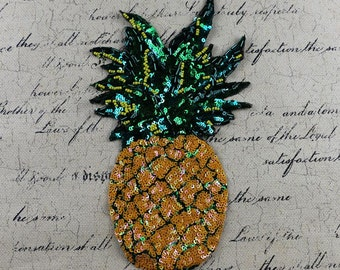 pineapple beaded embroidered  Patch applique Sequin clothes patch appliques DIY decoration