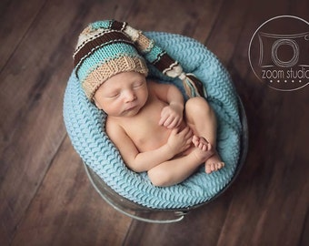 knit elf hat baby photo props