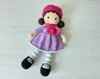 crochet doll crochet toy amigurumi toy doll for children handmade doll gift baby girl eco-friendly doll amigurumi doll mother's day birthday
