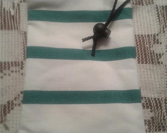 Turquoise Striped Dice Bag