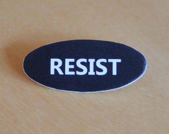 ACLU Resist Black Brooch Pin