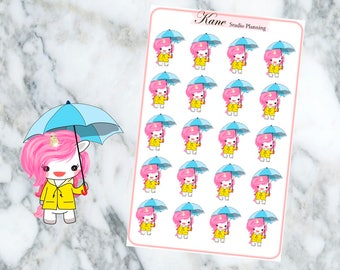 Rainy Unicorn Planner Stickers