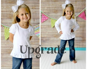 Upgrade any shirt listing to a Short sleeve or Long sleeve Ruffle Shirt - Listing to be purchased with another custom shirt listing ONLY!