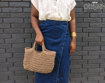 Market Bag//Cotton Rope// Basket Bag