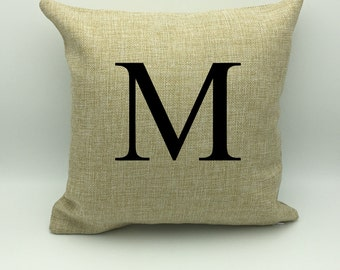 Personalized Burlap Pillow | Home Decor | Personalized Pillow  | Housewarming Gift | Wedding Gift  New Home Gift | Monogram Gift