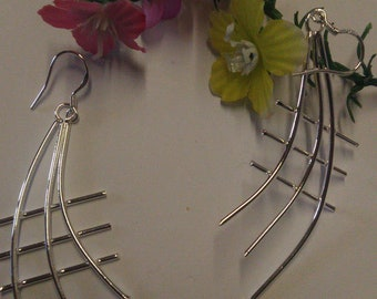 Geometric Silver earrings