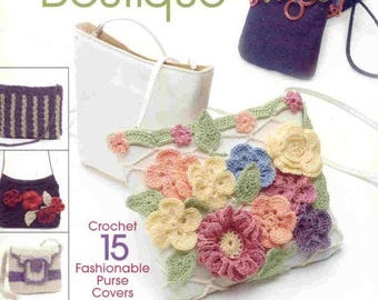 Bag Boutique Crochet Pattern , 15 Fashionable Purse Cover Crochet Bag Ebook, ENGLISH Language, Crochet Craft Ebook , PDF - instant download
