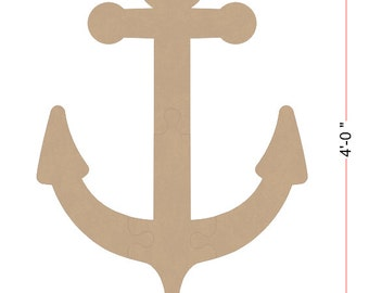 Giant 4 Foot Tall unfinished Wooden Anchor - Easy To Assemble